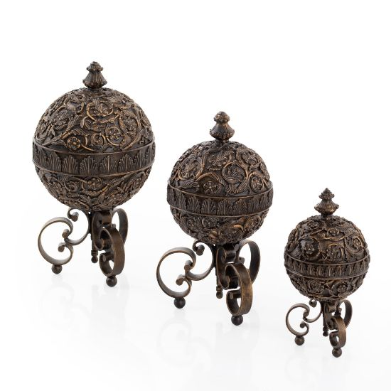 Picture of Sphere Finials Floral Filigree ( Set Of 3 ) | The Gallery