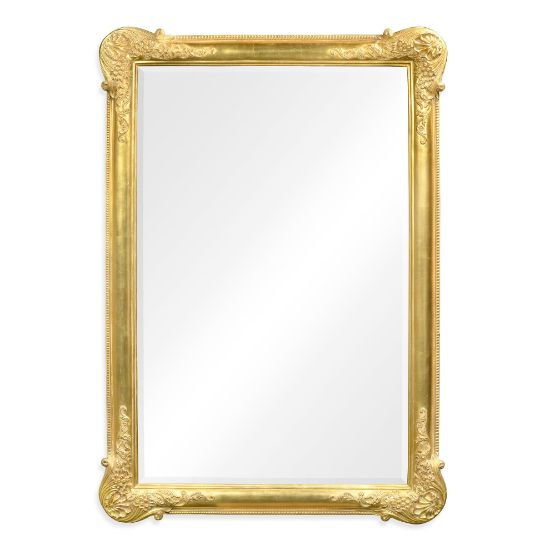 Picture of French 19th century tall rectangular gilded mirror (Plain) by Jonathan Charles