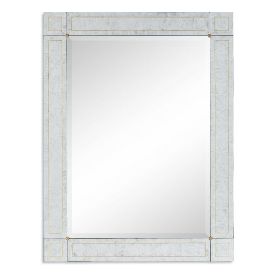 Picture of Rectangular Mirror with Églomisé Border by Jonathan Charles