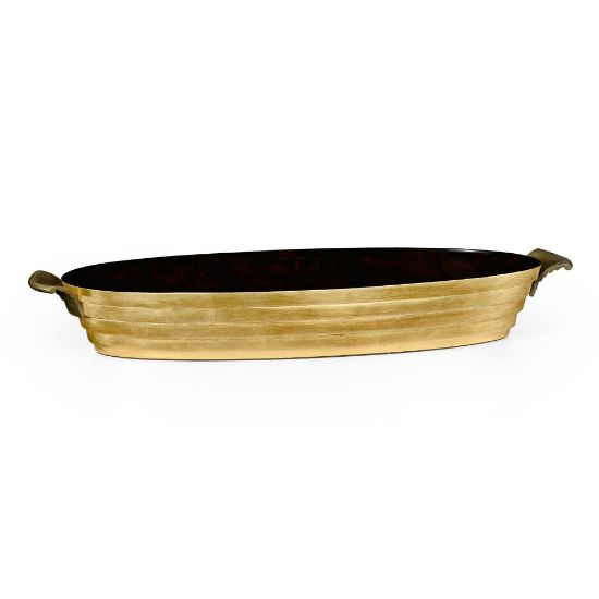 Picture of Stepped Gilded Oval Tray by Jonathan Charles