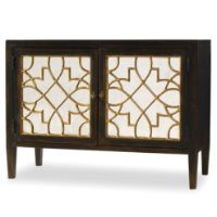 Picture of Ebony Two Door Mirrored Console