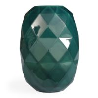 Picture of Cut Vase | Glossy Mint Green Ceramic Vase