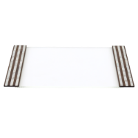 صورة Hatch Line | American Walnut White Serving Tray