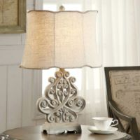 Picture of Sarah Rustic White Table Lamp