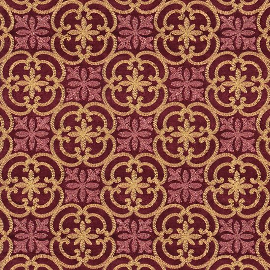 Picture of Embroidered Velvet Spring Field Burgundy