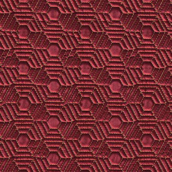 Picture of Quilted Honey Comb Velvet Burgundy