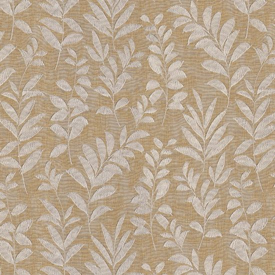 Picture of Jacquard Ambition Leaf On Wind Yellow Lime