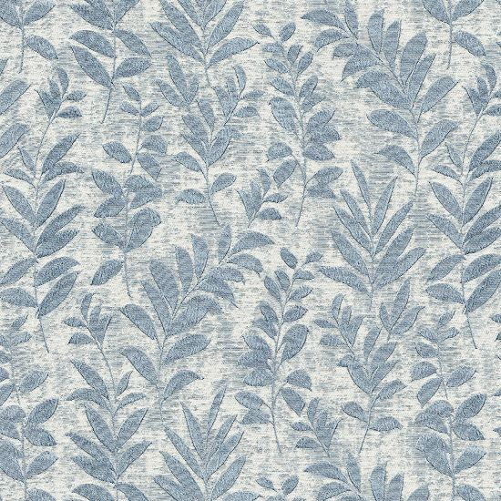 Picture of Jacquard Ambition Leaf On Wind Blue