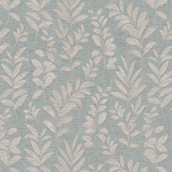 Picture of Jacquard Ambition Leaf On Wind Teal