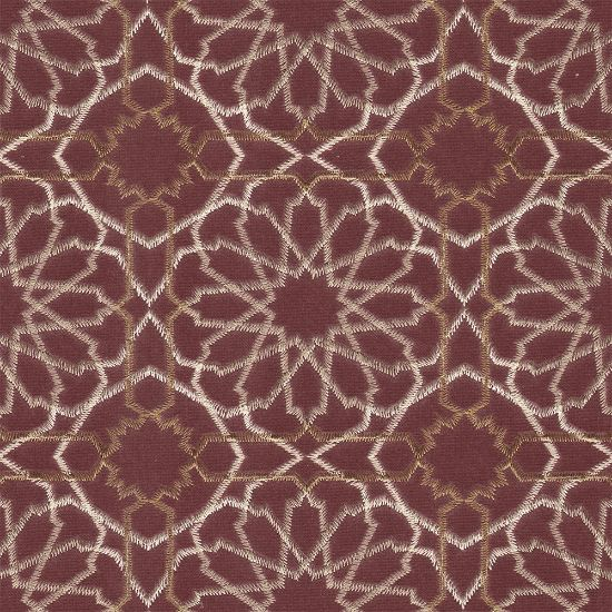 Picture of Glender Velvet Ethnic Embroidery Pink